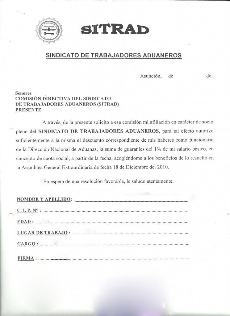 solicitud de admision